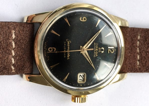Unrestored Gold Plated Omega Seamaster Calendar