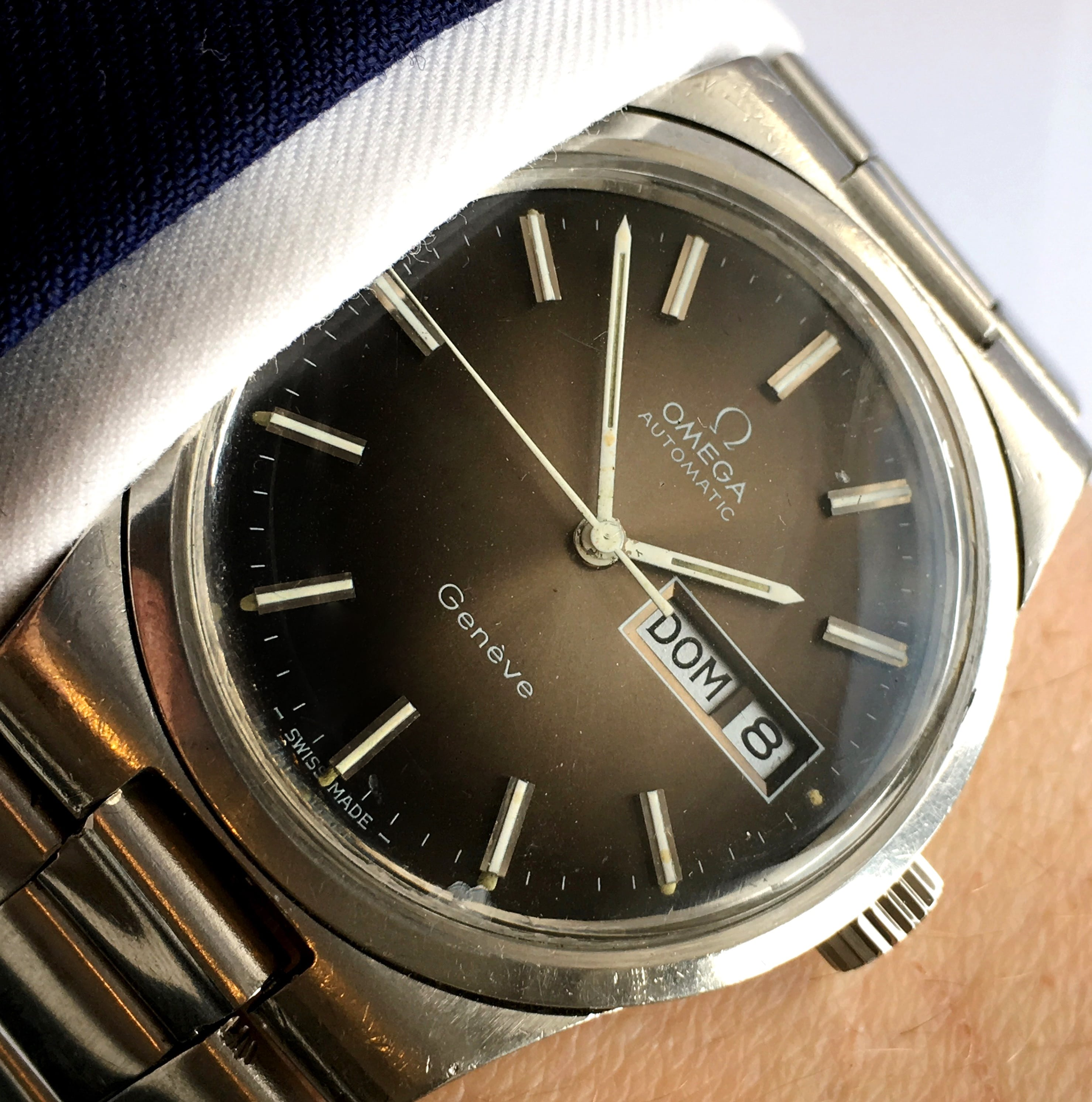 Rare Brown Dial Omega Genève Day Date