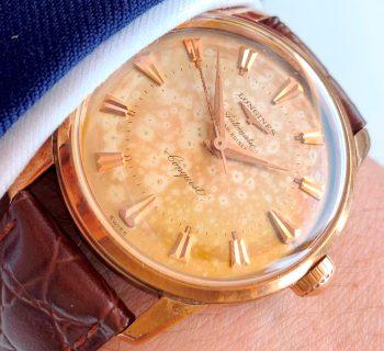[:en]Vintage Longines Conquest 18k Rose Gold Automatic[:de]Vintage Longines Conquest 18k Rosegold Automatik[:]