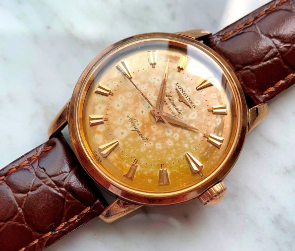 EXTRACT Vintage Longines Conquest 18k Rose Gold Automatic