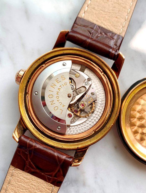 Vintage Longines Conquest 18k Rose Gold Automatic