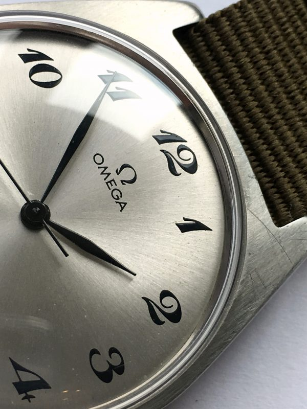 Refurbished Omega Genève with Silver Breguet Numeral Dial