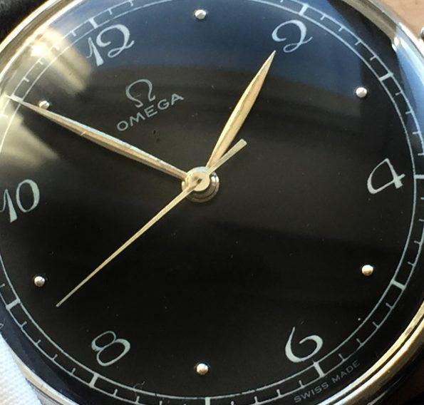 Vintage Omega Jumbo 30T2 Handwinding Black Dial