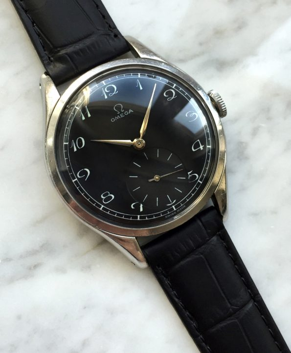 Vintage Omega Handwinding 30T2 Refurbished Black Dial