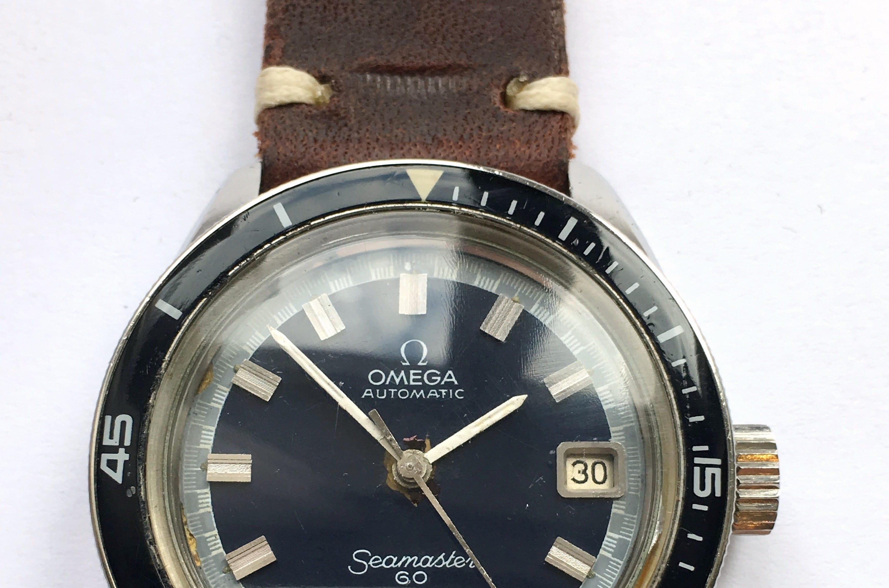 Great Big Crown Omega Seamaster 60 Bakelite Bezel