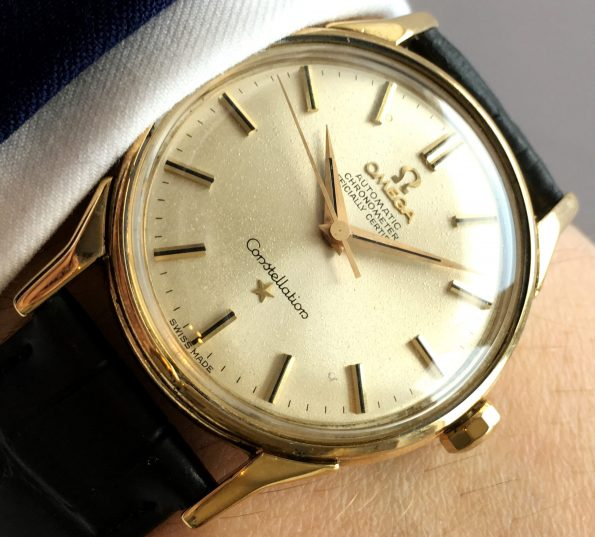 380 Euro Serviced SOLID GOLD Omega Constellation Automatic
