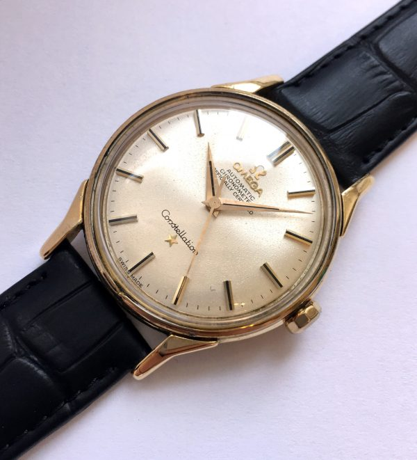 Fresh Serviced Unrefurbished Solid Gold Omega Constellation Automatic