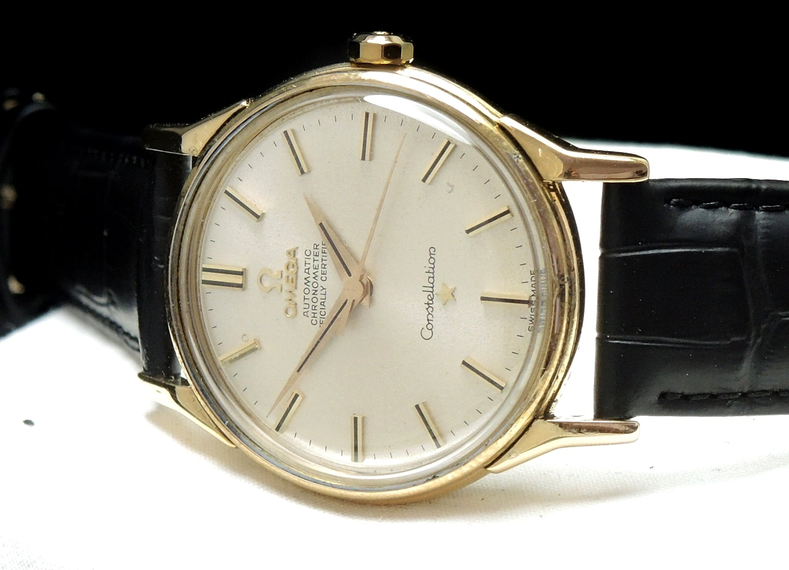 Freshly Serviced Unrefurbished Solid Gold Omega Constellation Automatic