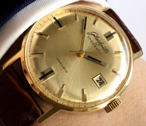Top Glashütte Spezimatik Automatic golden dial Date