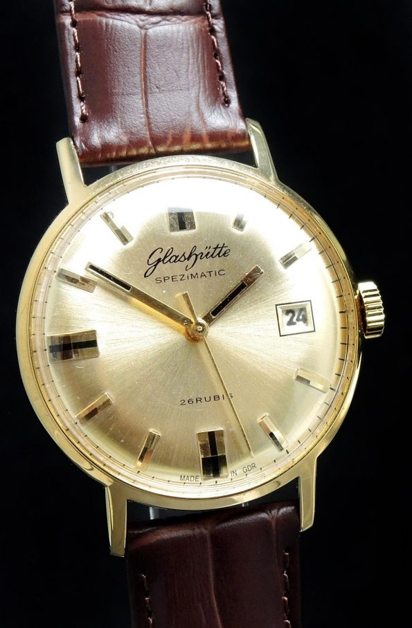 Top Glashütte Spezimatik Automatic golden dial Date
