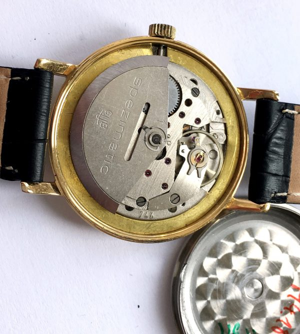 Serviced Glashütte Spezimatik Automatic golden dial