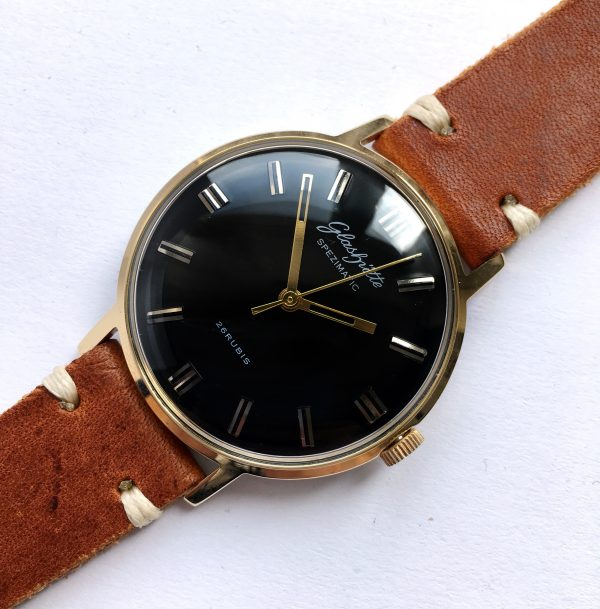 Restored Glashütte Spezimatik Automatic black dial