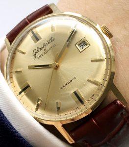 [:en]Vintage Glashütte Spezimatik Automatic golden dial Date[:de]Vintage Glashütte Spezimatik Automatik goldenes Ziffernblatt Datum[:]