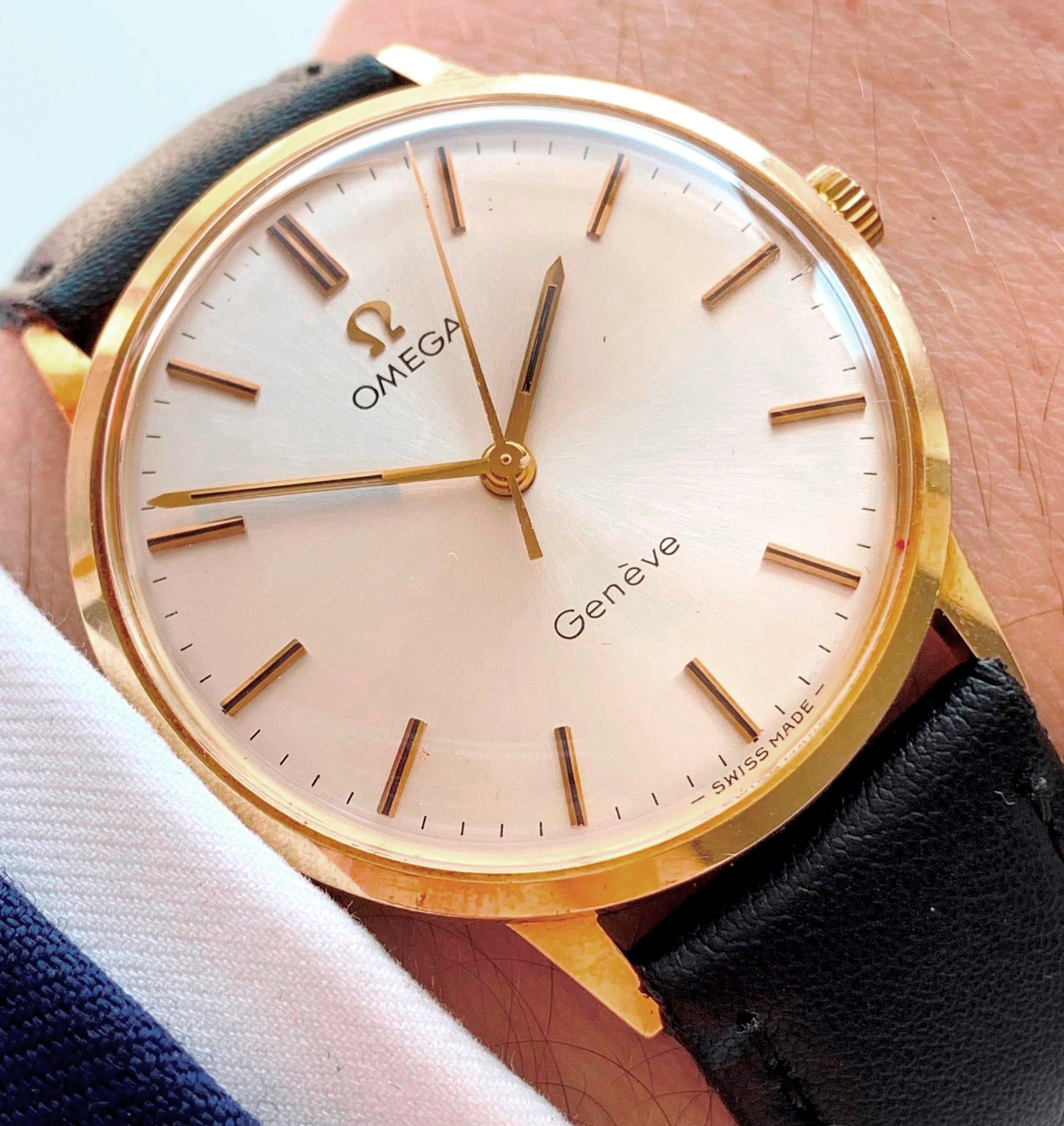Serviced 14k solid gold Vintage Omega Genève
