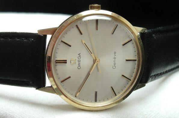 Unrefurbished 14k solid gold Vintage Omega Genève