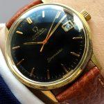 a2495 omega seamaster black brown (1)