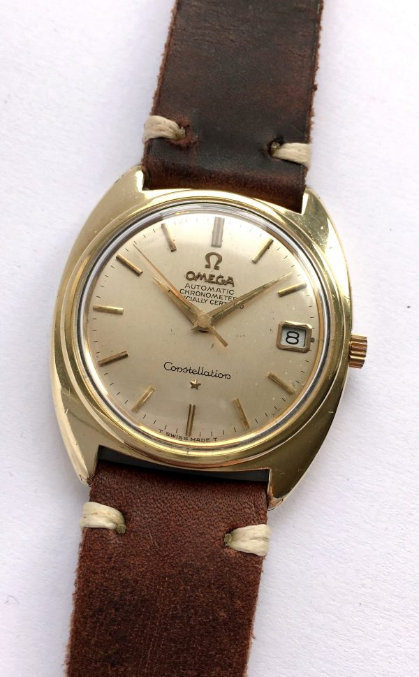 Gold Plated Omega Constellation C Case