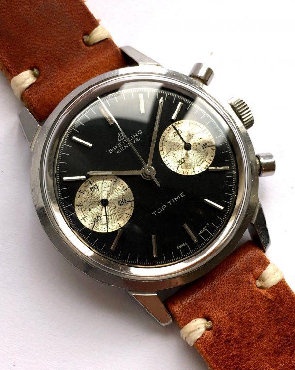 Amazing Breitling Top Time black dial Reverse Panda