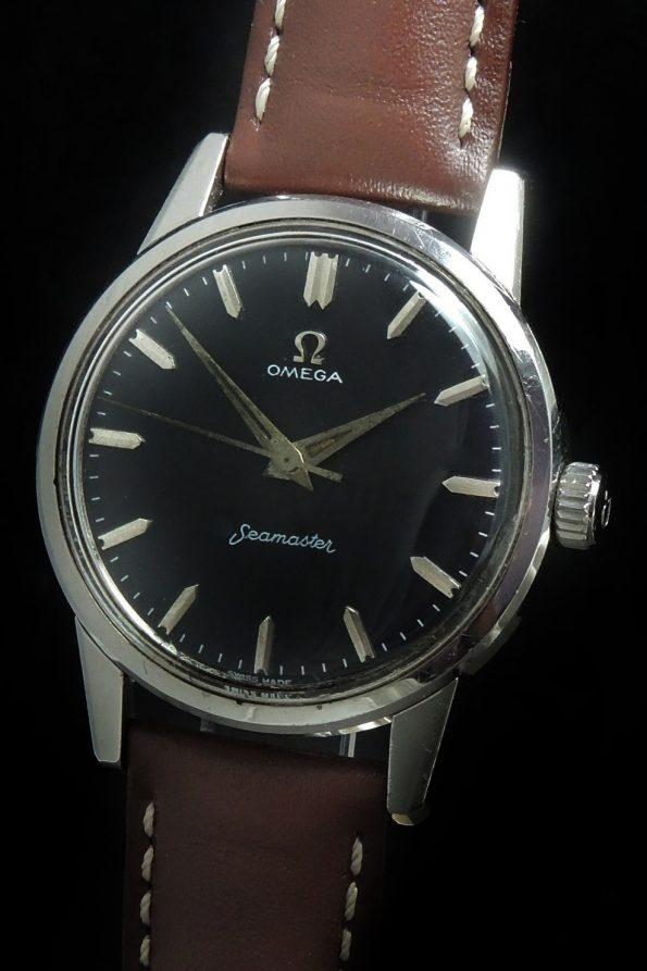Vintage Omega Seamaster Handwinding Cal 285 Black Dial