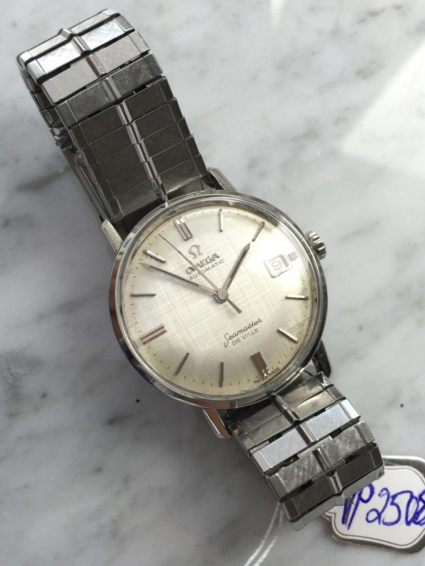Amazing Omega Seamaster De Ville Automatic Steel Linen Dial