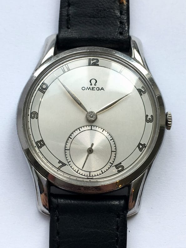AMAZING LUGS Omega 30T2 fully restored two tone dial