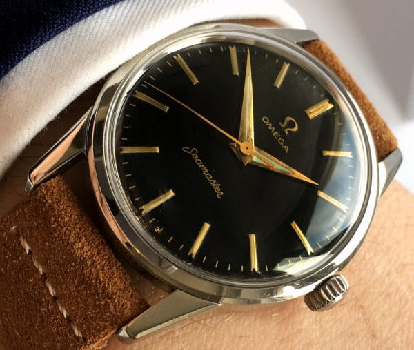Refurbished Omega Seamaster Calatrava with Black Linen Dial