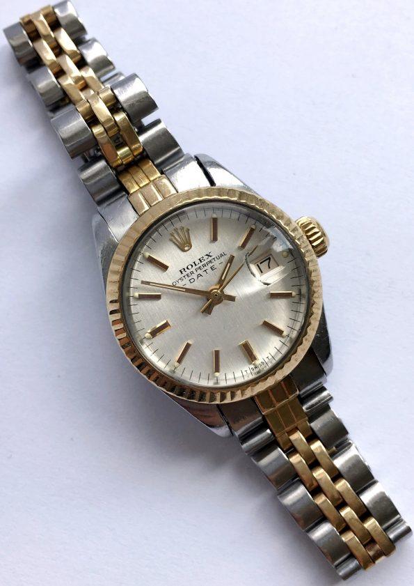 Twotone Ladies Rolex OP Date with original Linen Dial
