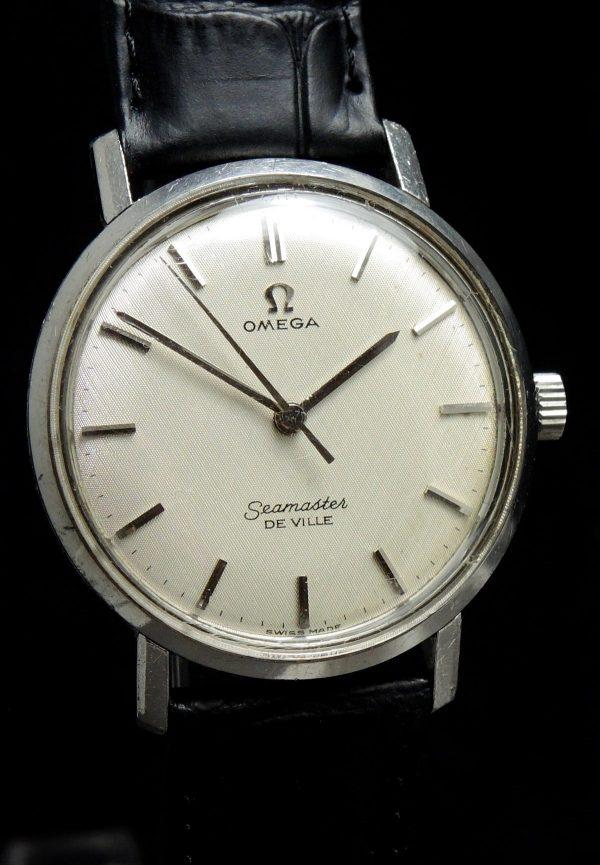 Monocase White Linen Dial Omega Seamaster De Ville
