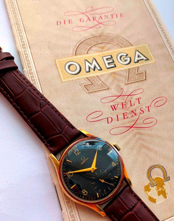 14k Solid Gold Vintage Omega Ref 2508 Full Set