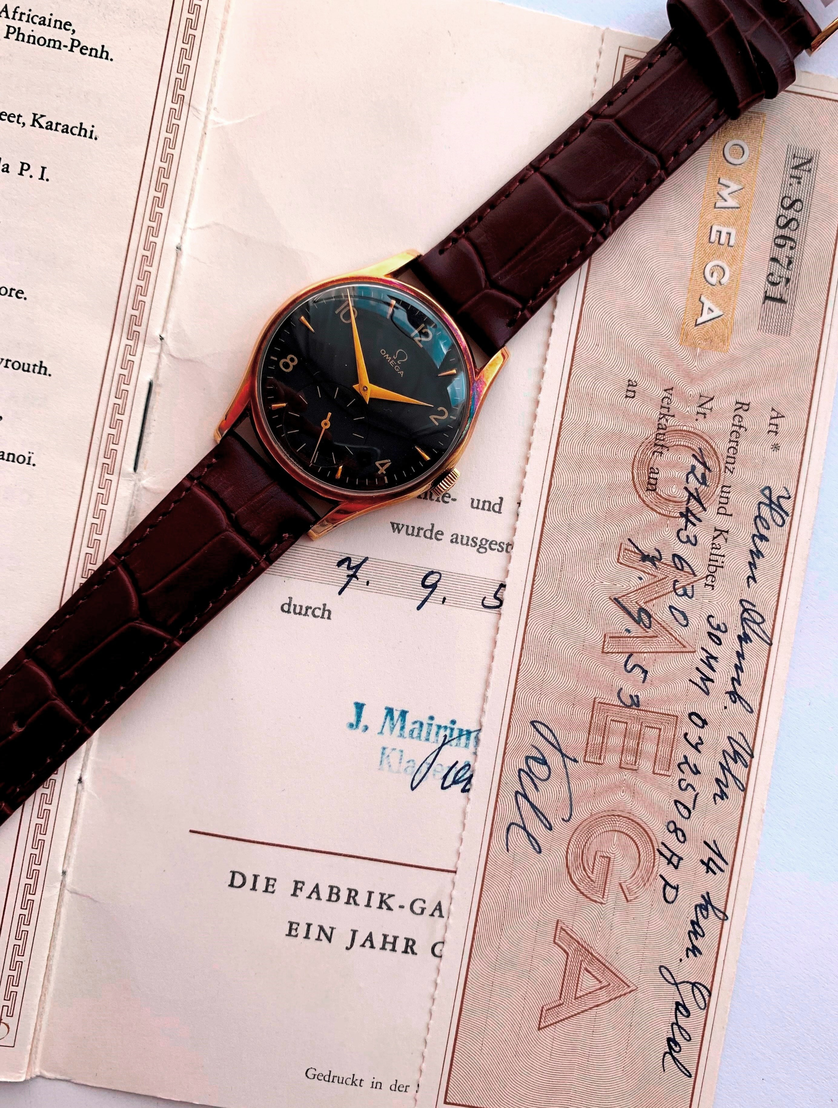 14k Vollgold Vintage Omega Ref 2508 Full Set