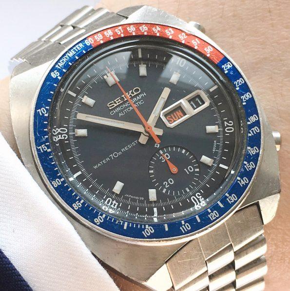 Originale Seiko Pepsi Chronograph Automatik 6139