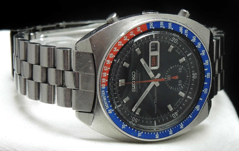 = Krone Made For Seiko Chronograph 6139 Neu