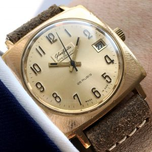 Gold Plated 1970s Glashütte Spezimatik
