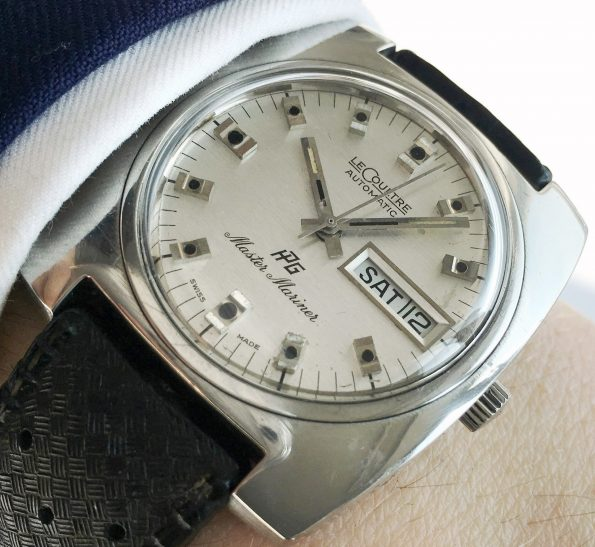 LeCoultre Master Mariner Linen Onyx Dial Day Date