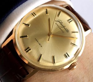Wonderful Glashütte Spezimatik Automatic golden dial