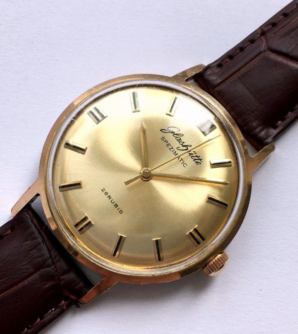 Wonderful Glashütte Spezimatik Automatic golden dial