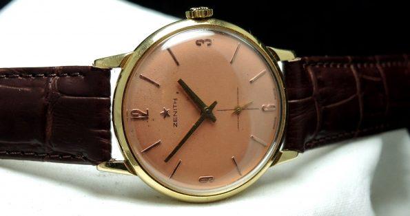 Tolle 1950er Vollgold Zenith Uhr