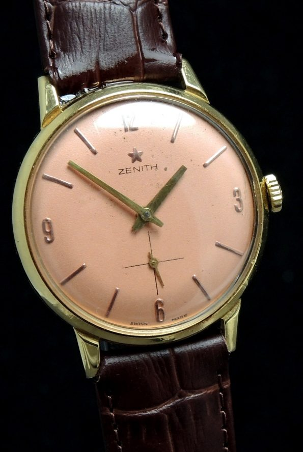 Great 1950s Solid Gold Zenith Watch