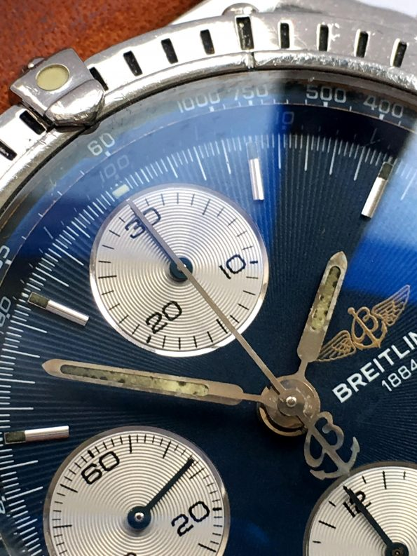 Serviced Breitling Chronomat Vintage Automatic Blue Dial