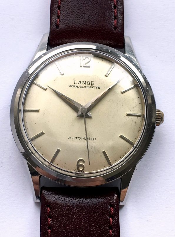 Rare 1960s Pre Lange Söhne Stainless Steel Automatic