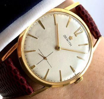 [:en]Refurbished 1960s Solid Gold Zenith[:de]Restaurierte 1960er Vollgold Zenith[:]