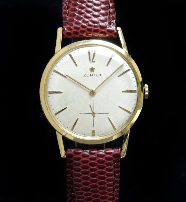 Refurbished 1960s Solid Gold Zenith caliber 126 Vintage