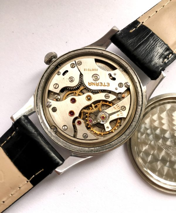 Unrefurbished Gilt Dial Manual Wind Eterna Small Seconds
