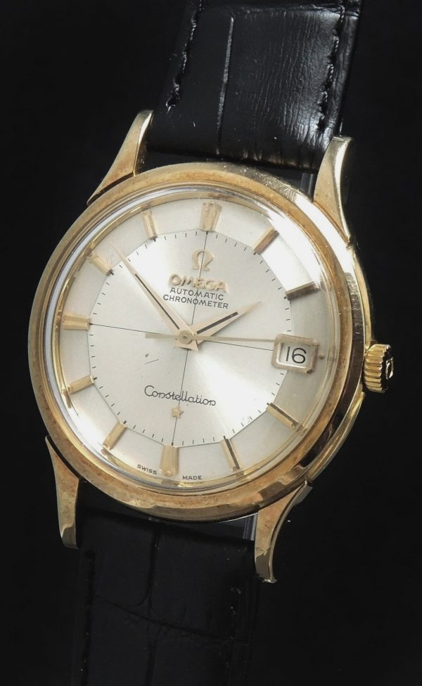 Pristine Solid Yellow Gold Omega Constellation Pie Pan