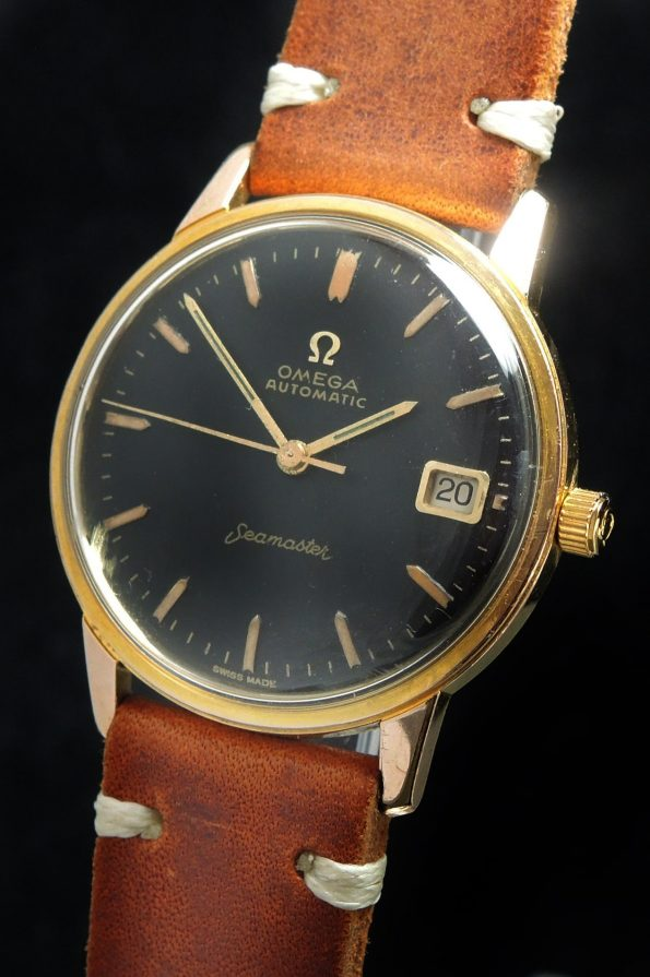 Serviced Omega Seamaster Automatic Black Refurbished Dial