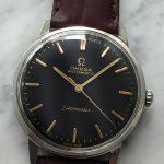Vintage Omega Seamaster Automatik Restauriertes schwarzes Ziffernblatt