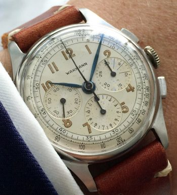 Serviced Wakmann Chronograph Two Tone Dial