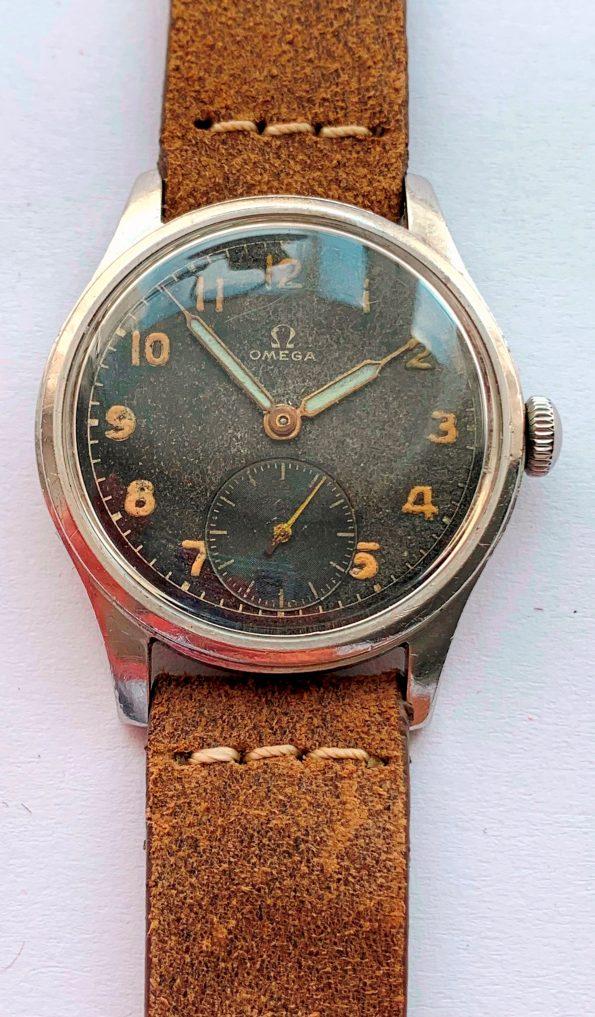 Vintage Omega 30t2 Black GILT Dial