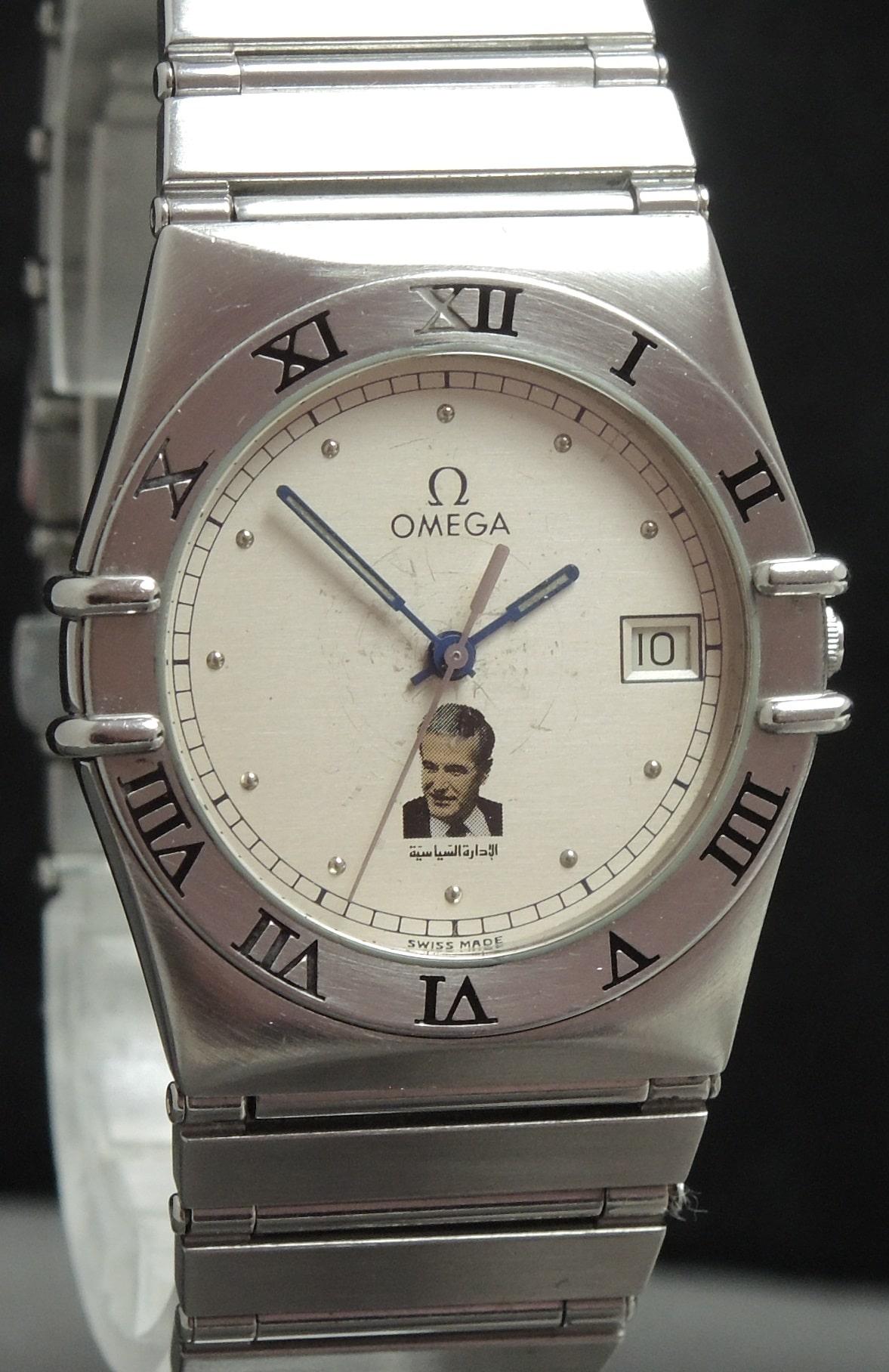 Omega Constellation Quartz with Hafez Al-Assad Dial