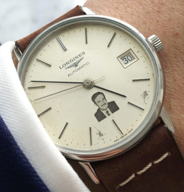 Rare Longines Vintage Automatic Assad Hafez from Syria Dial